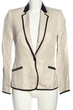 Mango Suit Kurz-Blazer wollweiß-schwarz Casual-Look