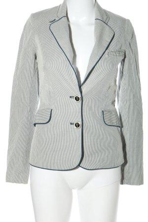 Mango Suit Kurz-Blazer blau-weiß Streifenmuster Casual-Look