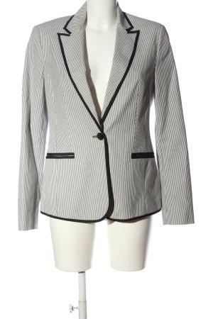 Mango Suit Kurz-Blazer weiß-schwarz Streifenmuster Casual-Look