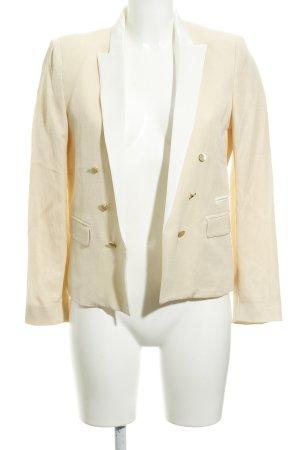 Mango Suit Kurz-Blazer creme-weiß Elegant