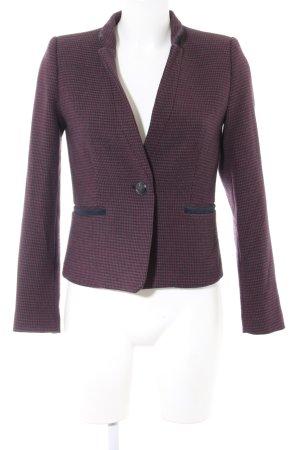 Mango Suit Kurz-Blazer lila-schwarz Webmuster Business-Look