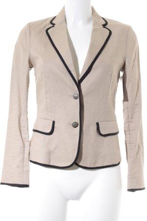 Mango Suit Kurz-Blazer schwarz-camel Business-Look