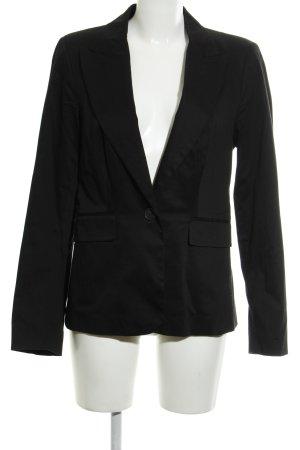 Mango Suit Kurz-Blazer schwarz schlichter Stil