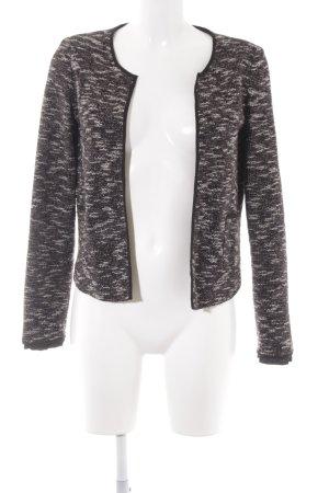 Mango Suit Kurz-Blazer schwarz-wollweiß meliert Casual-Look