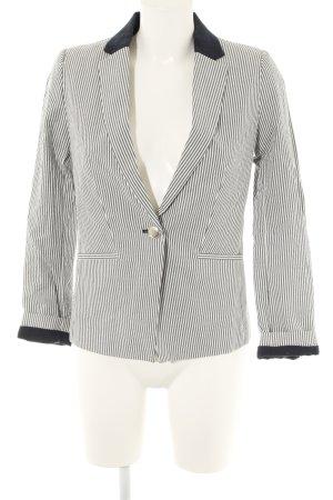 Mango Suit Kurz-Blazer Streifenmuster Casual-Look