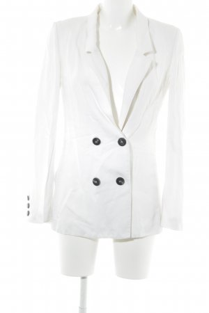 Mango Suit Kurz-Blazer weiß Casual-Look