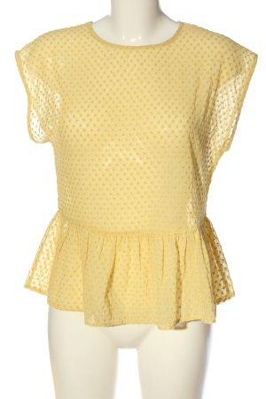 Mango Suit Kurzarm-Bluse blassgelb Casual-Look