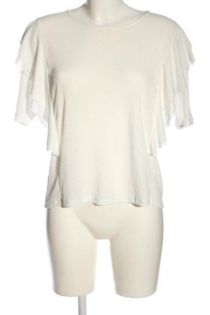 Mango Suit Kurzarm-Bluse weiß Casual-Look