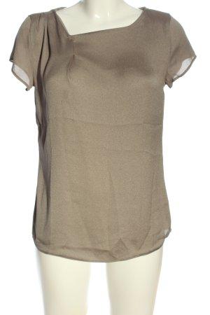 Mango Suit Kurzarm-Bluse braun Casual-Look