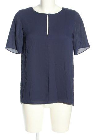 Mango Suit Kurzarm-Bluse blau Casual-Look