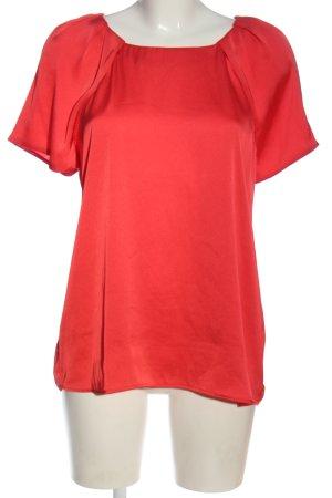 Mango Suit Kurzarm-Bluse rot Casual-Look