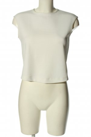 Mango Suit Kurzarm-Bluse wollweiß Business-Look