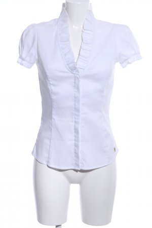 Mango Suit Kurzarm-Bluse weiß Business-Look