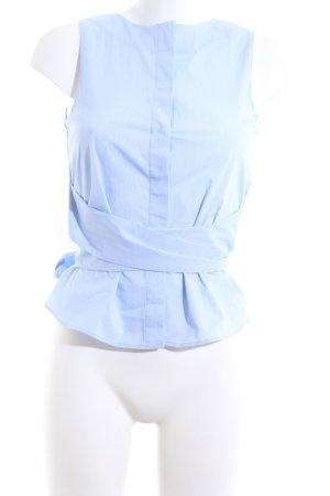 Mango Suit Camicia a maniche corte blu Tessuto misto