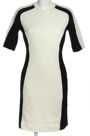 Mango Suit Kurzarmkleid wollweiß-schwarz Casual-Look