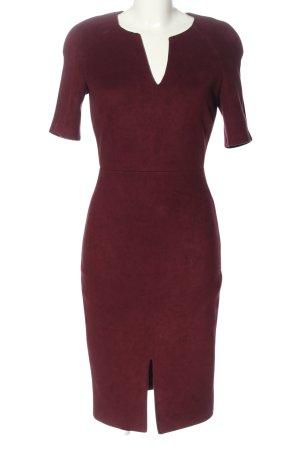 Mango Suit Kurzarmkleid lila Business-Look