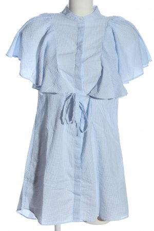 Mango Suit Kurzarmkleid blau-weiß Streifenmuster Casual-Look