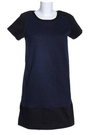 Mango Suit Kurzarmkleid blau-schwarz Casual-Look