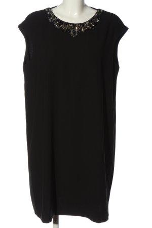 Mango Suit Kurzarmkleid schwarz Zopfmuster Casual-Look