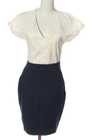 Mango Suit Kurzarmkleid blau-weiß Casual-Look