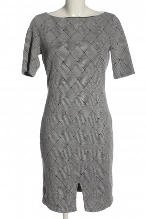 Mango Suit Kurzarmkleid schwarz-weiß Allover-Druck Casual-Look