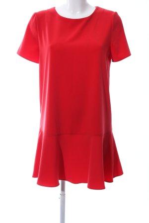 Mango Suit Kurzarmkleid rot Business-Look