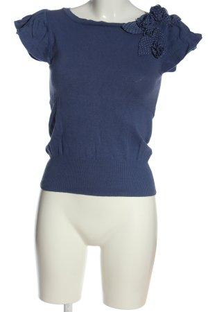 Mango Suit Sweater met korte mouwen lila-blauw elegant