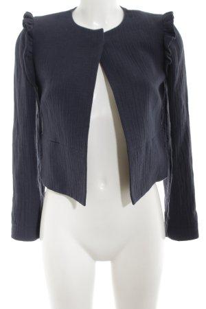 Mango Suit Kurzjacke blau Allover-Druck Business-Look