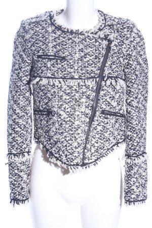 Mango Suit Kurzjacke weiß-hellgrau Allover-Druck Casual-Look