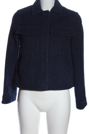 Mango Suit Kurzjacke blau meliert Casual-Look