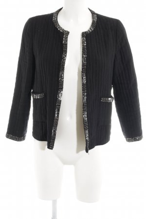 Mango Suit Kurzjacke schwarz Steppmuster Elegant