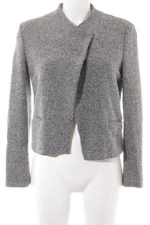 Mango Suit Kurzjacke schwarz-weiß meliert