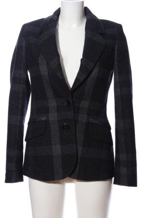 Mango Suit Kurzmantel schwarz-hellgrau Allover-Druck Business-Look