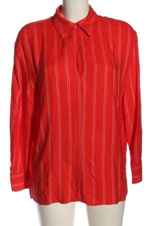 Mango Suit Langarm-Bluse rot Streifenmuster Casual-Look