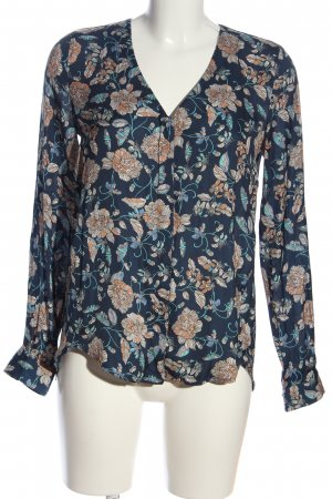 Mango Suit Langarm-Bluse abstraktes Muster Casual-Look