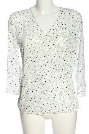 Mango Suit Langarm-Bluse Punktemuster Casual-Look