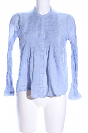 Mango Suit Langarm-Bluse blau Casual-Look