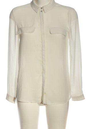 Mango Suit Langarm-Bluse wollweiß Casual-Look