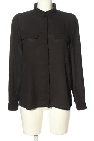 Mango Suit Langarm-Bluse schwarz Business-Look