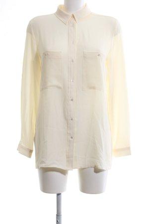 Mango Suit Langarm-Bluse creme Business-Look