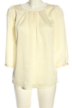 Mango Suit Langarm-Bluse blassgelb Elegant