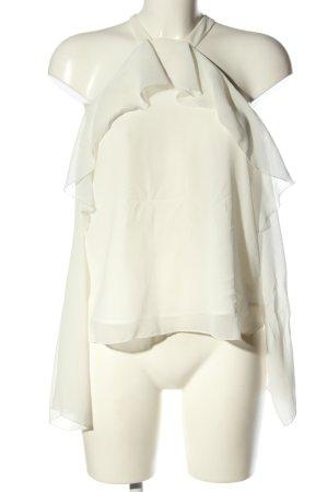 Mango Suit Langarm-Bluse weiß Elegant