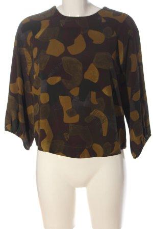 Mango Suit Langarm-Bluse abstraktes Muster Business-Look