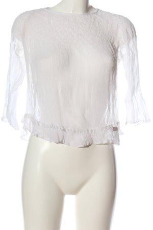 Mango Suit Langarm-Bluse weiß Casual-Look