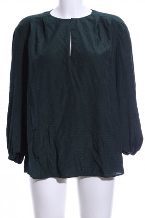 Mango Suit Langarm-Bluse grün Punktemuster Business-Look