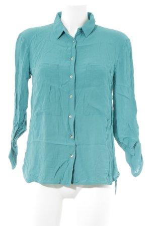 Mango Suit Langarm-Bluse kadettblau Casual-Look