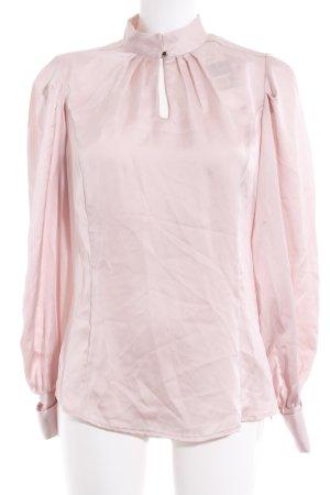 Mango Suit Langarm-Bluse rosé Casual-Look