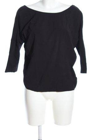 Mango Suit Langarm-Bluse schwarz Casual-Look