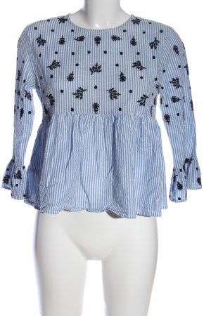 Mango Suit Langarm-Bluse Streifenmuster Casual-Look
