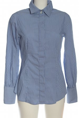 Mango Suit Long Sleeve Shirt blue-white striped pattern casual look
